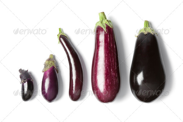 Composition of eggplants - Stock Photo - Images