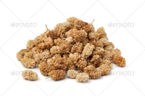 Heap of dried mulberries - Stock Photo - Images