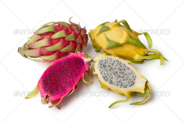 Yellow Pitaya and Costa Rica Pitaya - Stock Photo - Images