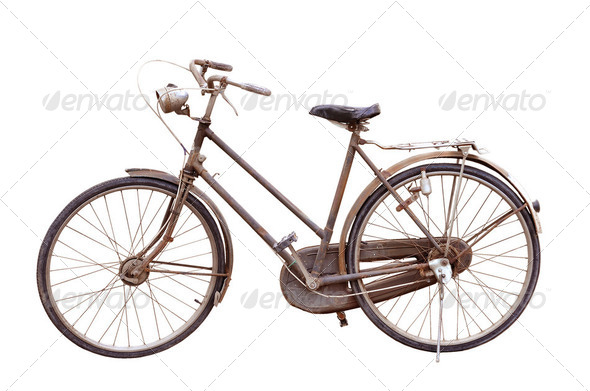 antique bicycle - Stock Photo - Images