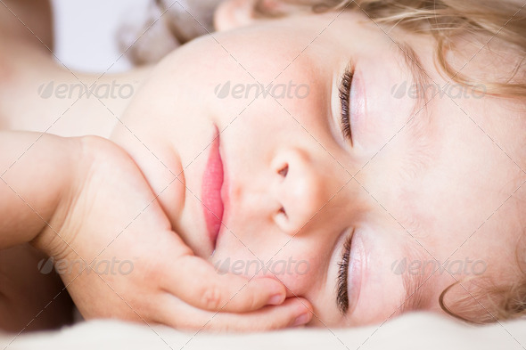 The sleeping baby - Stock Photo - Images