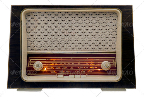 Vintage radio on - Stock Photo - Images