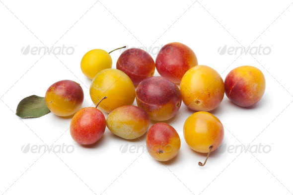 Fresh ripe mirabelle plums - Stock Photo - Images