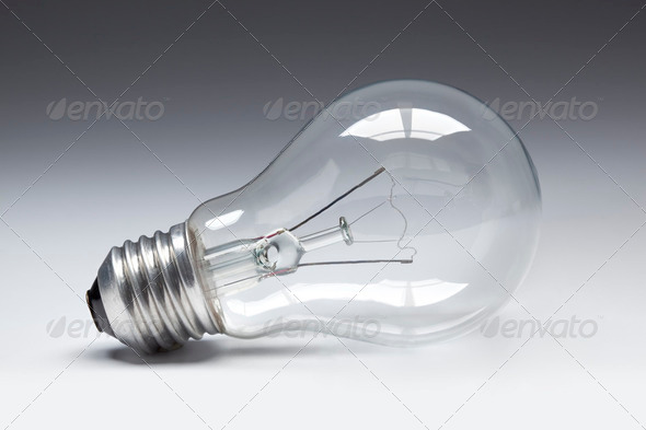 Clear lightbulb - Stock Photo - Images