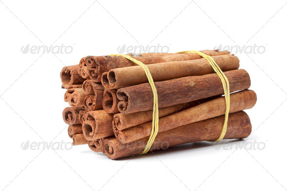 Bundle of Cinnamon sticks - Stock Photo - Images