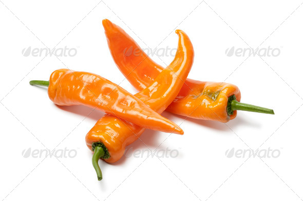 Orange sweet peppers - Stock Photo - Images