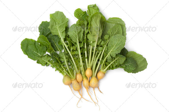Fresh yellow baby turnips - Stock Photo - Images
