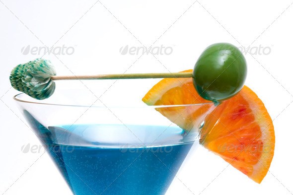 Cocktail On Curacao  Base - Stock Photo - Images