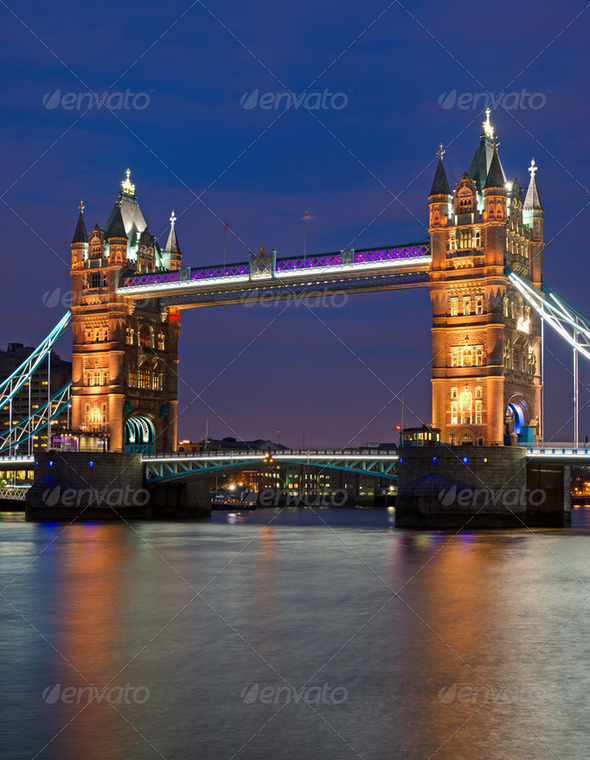 The Tower Bridge in London - Stock Photo - Images