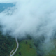 Aerial Flying Through Fog In Mountains - VideoHive Item for Sale