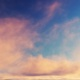Bright Orange Pink Clouds In The Morning Sky - VideoHive Item for Sale