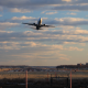 Airplane take off from runway - Arlington, Virginia - Evening - VideoHive Item for Sale