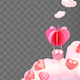 Isolated Heart Shaped Hot Air Balloon Frame - VideoHive Item for Sale