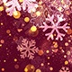 Christmas Red Snowflake Background with Glitter Particles  - VideoHive Item for Sale