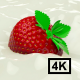Strawberry Floating In Milk 4K - VideoHive Item for Sale