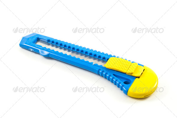 Blue cutter - Stock Photo - Images