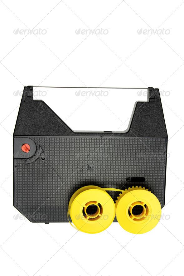 Typewriter Ribbon Reel - Stock Photo - Images