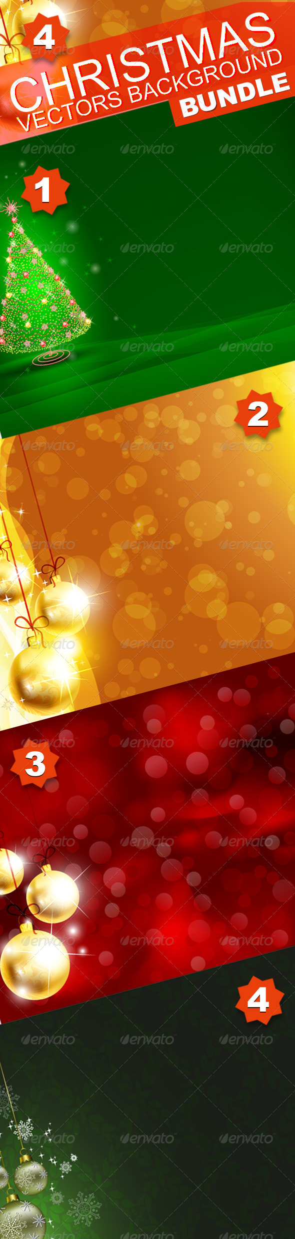 Christmas background Bundle - Christmas Seasons/Holidays