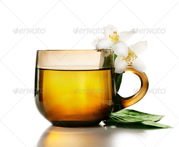 Jasmine Tea - Stock Photo - Images