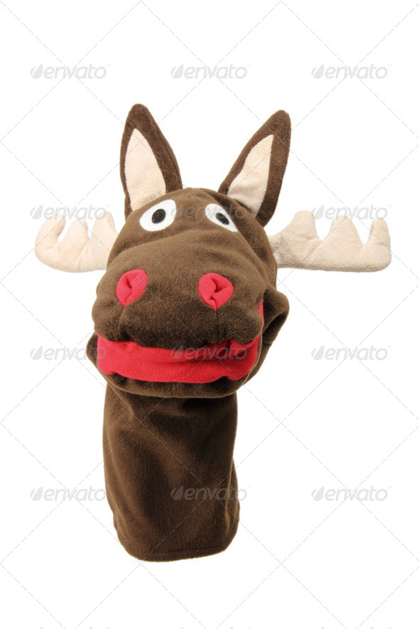 Reindeer Hand Puppet - Stock Photo - Images