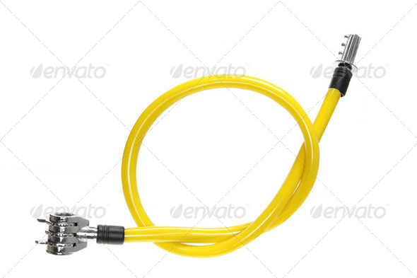 Bicycle Cable Lock - Stock Photo - Images