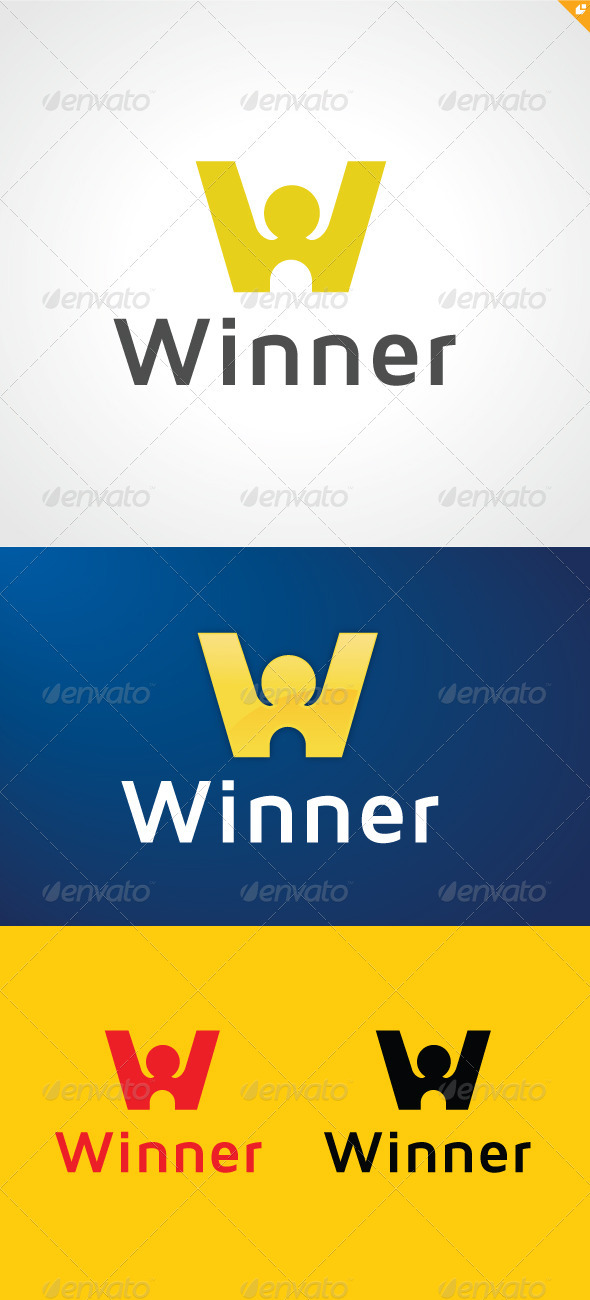 The Winner Logo - Letters Logo Templates