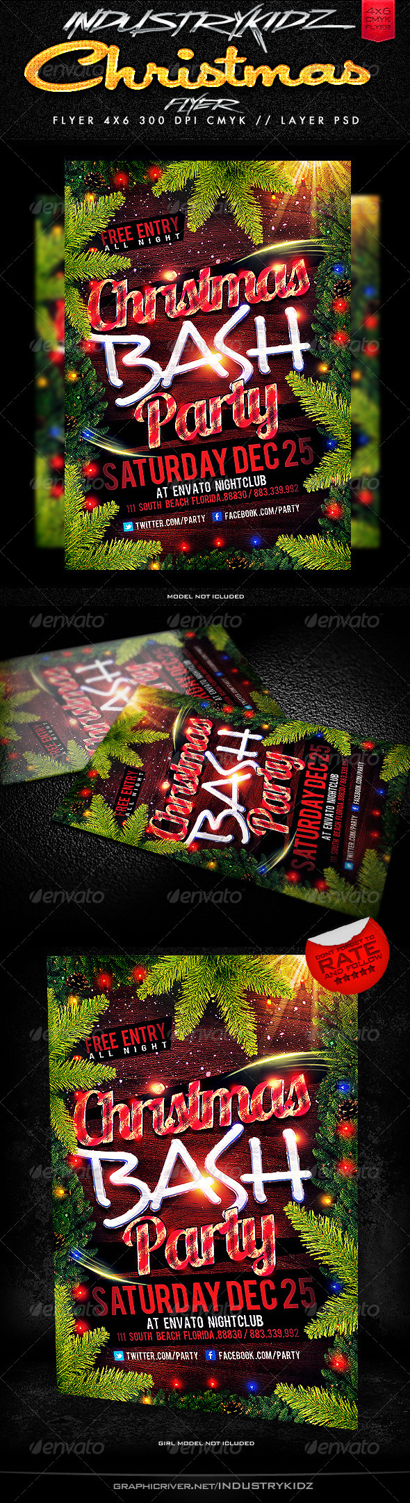 Christmas Party Flyers Template