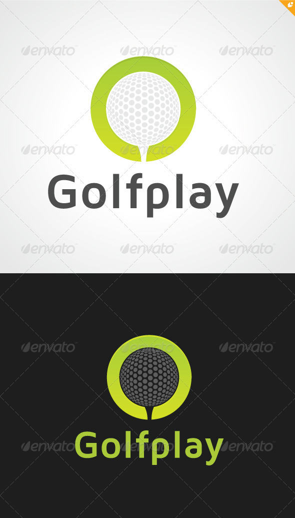 Golf Play Logo - Objects Logo Templates