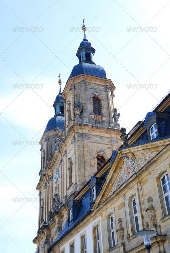 Basilica Of Goessweintstein - Stock Photo - Images