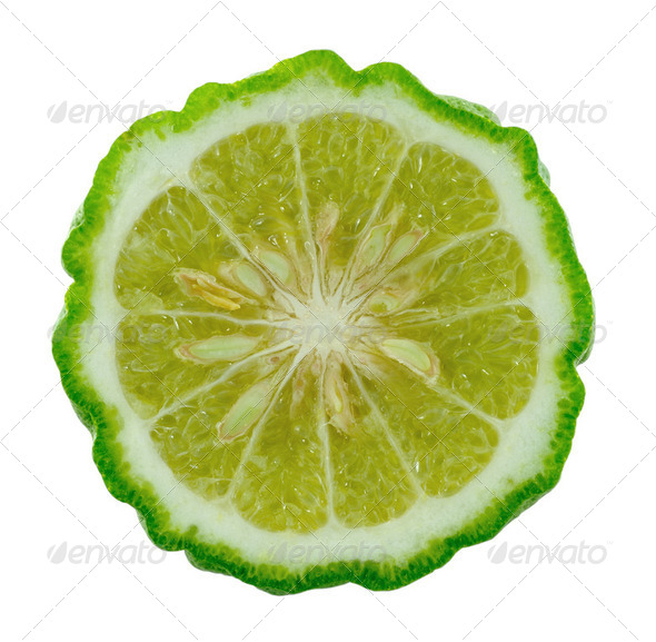 Kaffir lime slice - Stock Photo - Images