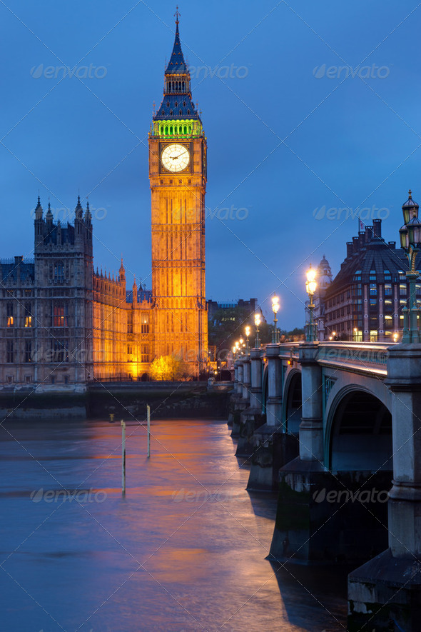 Clocktower of the Houses of Parliament - Stock Photo - Images