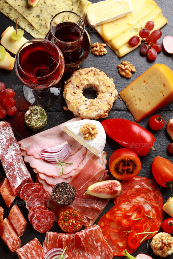 Antipasto catering platter - Stock Photo - Images