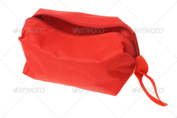 Open Red Hand Bag - Stock Photo - Images