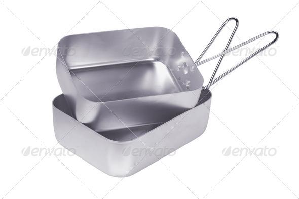 Aluminum Mess tins - Stock Photo - Images
