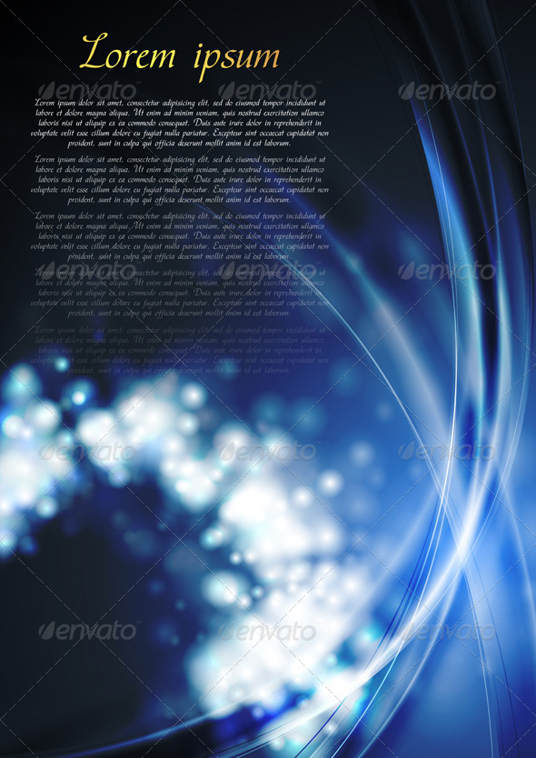 Bright blue wavy abstraction - Backgrounds Decorative