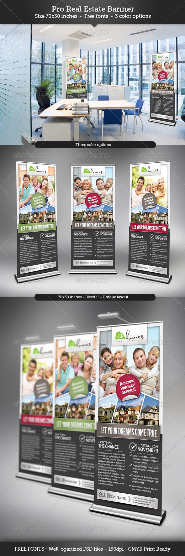 Real Estate Banner Template - Signage Print Templates