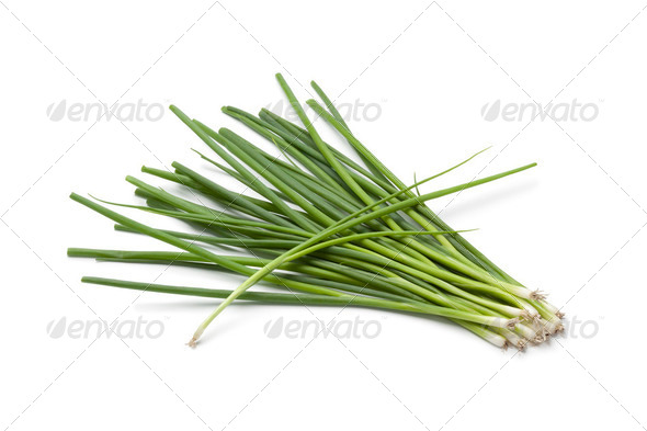 Small fresh spring onions - Stock Photo - Images
