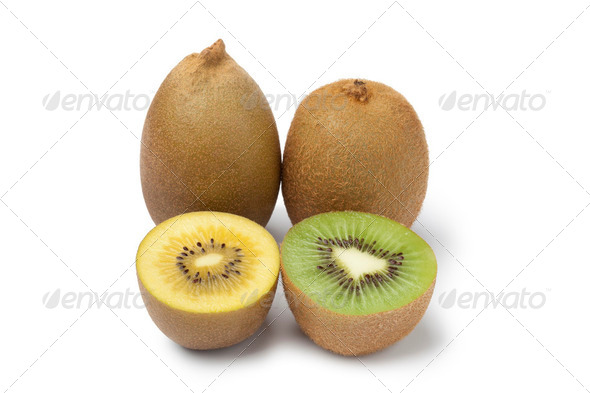 Yellow and green kiwi fruit - Stock Photo - Images