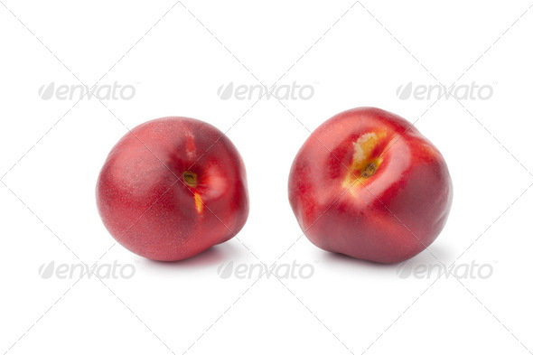 Fresh ripe nectarines - Stock Photo - Images