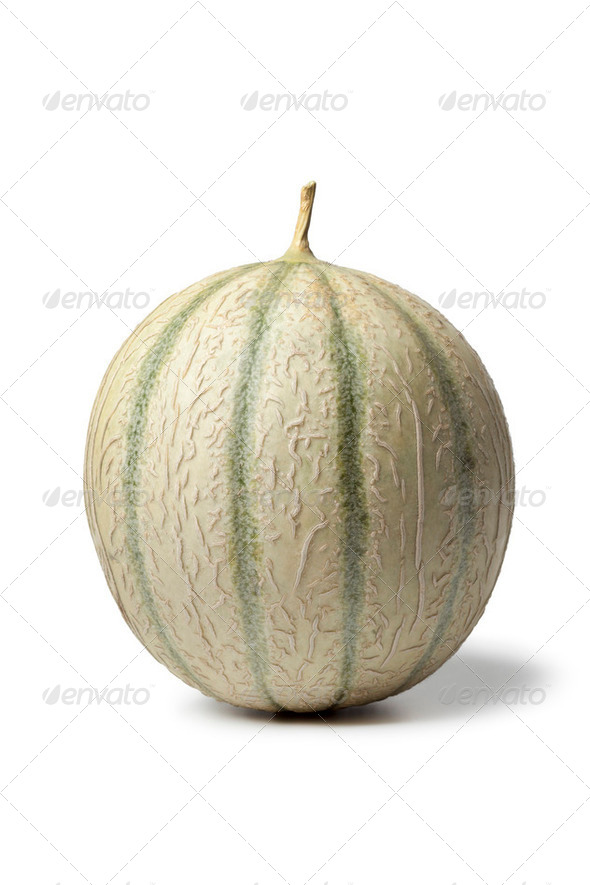 Fresh ripe Charentais melon - Stock Photo - Images