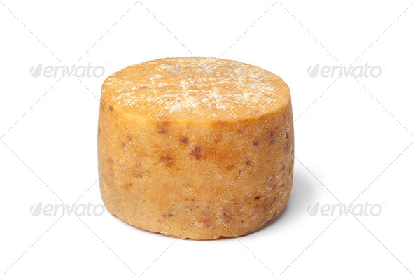 Traditional Basque sheep's milk cheese - Stock Photo - Images