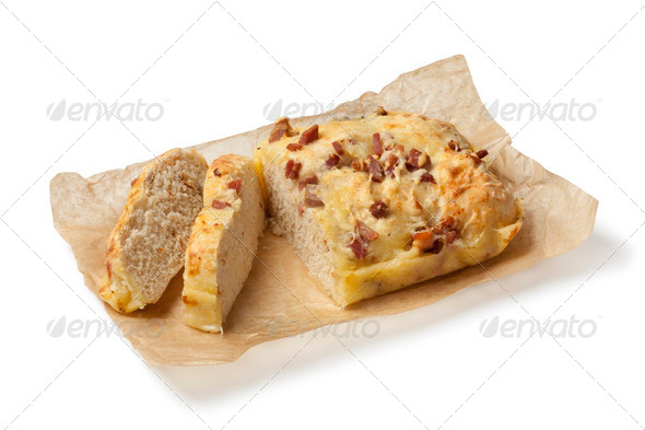 Cheese and bacon bread - Stock Photo - Images