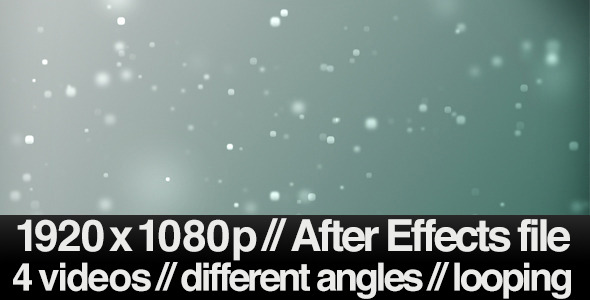 4 Bokeh Particles Floating Away Backgrounds - LOOP