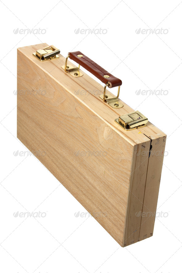 Wooden Artist Case - Stock Photo - Images