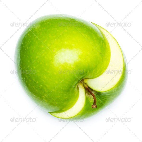 Fresh green apple - Stock Photo - Images