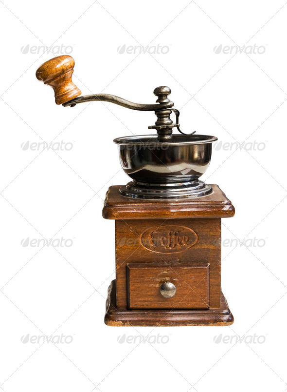Vintage coffee mill - Stock Photo - Images
