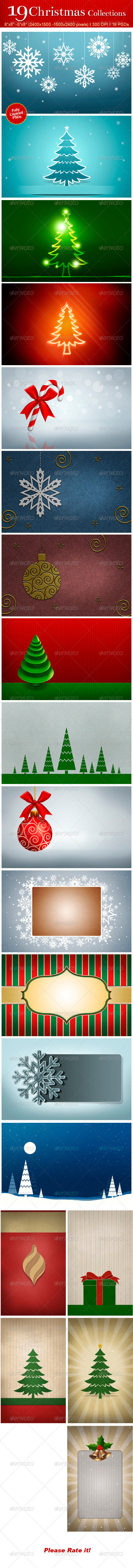 19 Christmas Collections - Miscellaneous Backgrounds