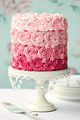 Pink ombre cake