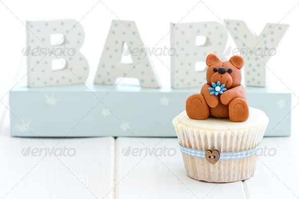 Baby shower cupcake - Stock Photo - Images
