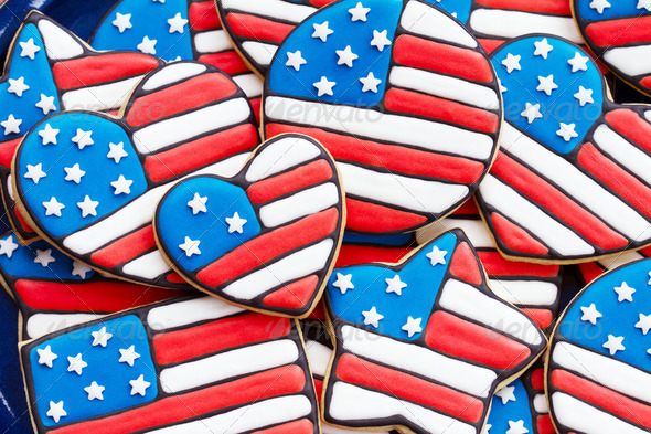 Patriotic cookies - Stock Photo - Images